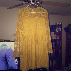 Lacy Marigold bohemian dress